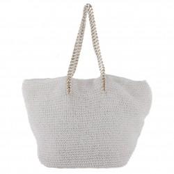 Hand bag, Karen White, raffia