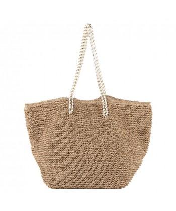 Hand bag, Karen Brown, raffia