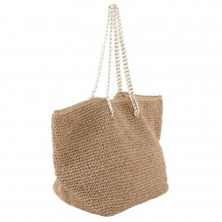Hand bag, Karen Brown, raffia