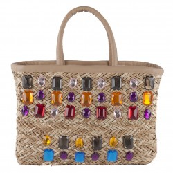 Hand bag, Doda Multicolor straw