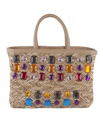 Hand bag, Doda Multicolor straw