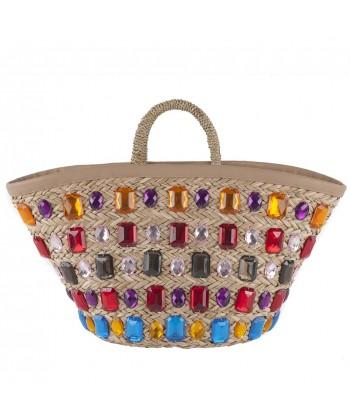 Handtasche, Geschenkt, Multicolor, stroh