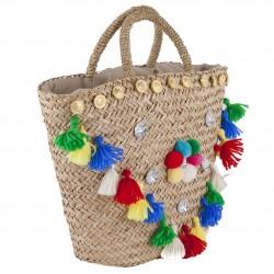 Handtasche, Dalida Bunt, stroh