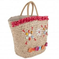 Handtasche, Hedwig Rot, stroh
