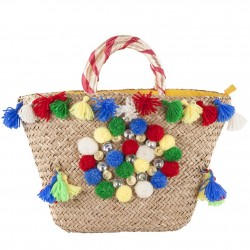 Hand bag, Pia Multicolor straw