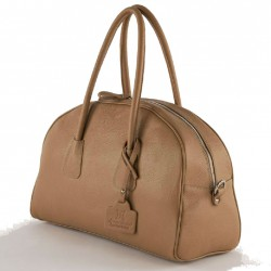 Hand bag, Lola Camel leather, made in Italy