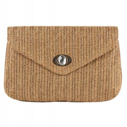 Borsa clutch, Oriana Marrone, in raffia