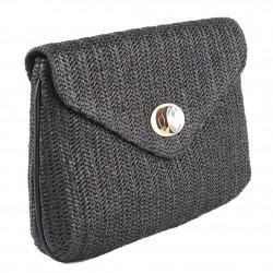 Bolsa de embrague, Oriana Negro de rafia