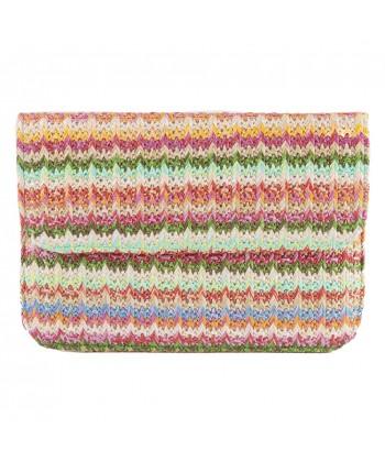 Bolsa de embrague, Ophelia Verde, algodón
