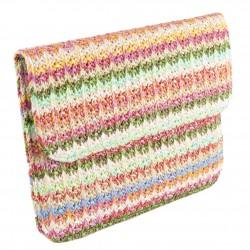 Bag clutch, Ophelia Green, cotton