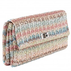 Bolsa de embrague, Ferdi de color Beige, de algodón