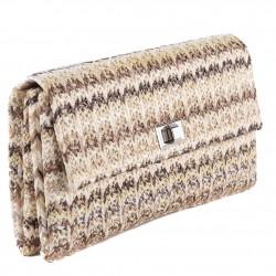 Bolsa de embrague, Ferdi, Café, algodón