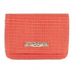 Shoulder bag, Meri Red, raffia