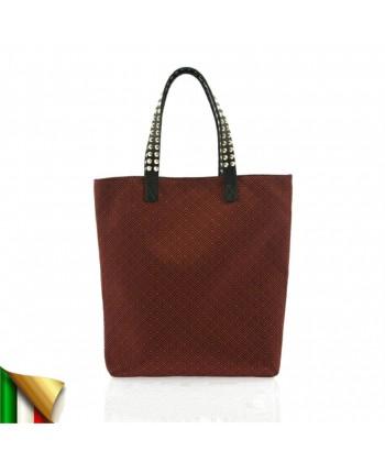 Borsa a mano, Graziella Rossa, in tessuto, made in Italy
