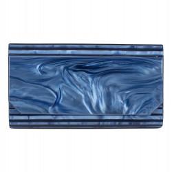 Bag clutch, Nuccia Blue, rodoide