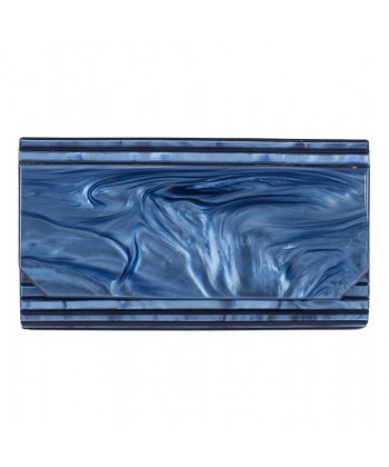 Bag clutch, Nuccia Blue, rodoide