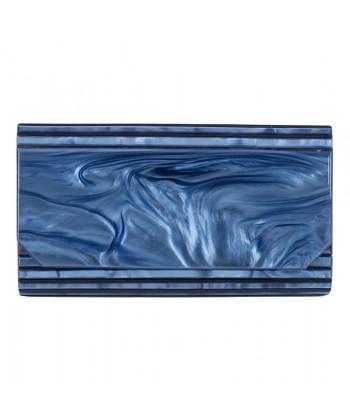 Borsa clutch, Nuccia Blu, in rodoide