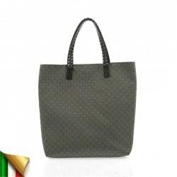 Handtasche, Graziella Bianca, stoff, made in Italy