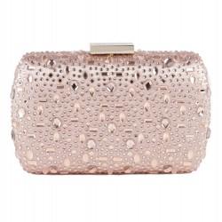 Bag clutch, Nerea Pink, satin