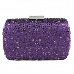 Bag clutch, Nerea Purple, satin