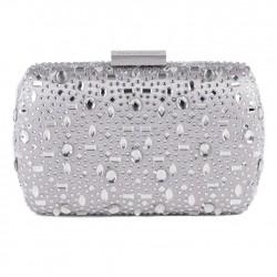 Bag clutch, Nerea Silver, satin