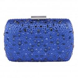 Bag clutch, Nerea Blue, satin
