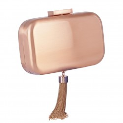 Bag clutch, Nevia Pink, metal