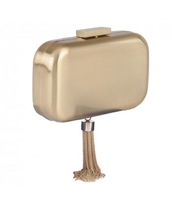 Borsa clutch, Nevia Oro, in metallo