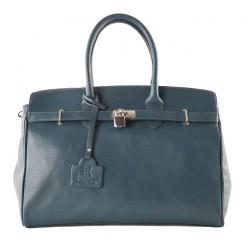 Handtasche, Lilly Grün, leder, made in Italy