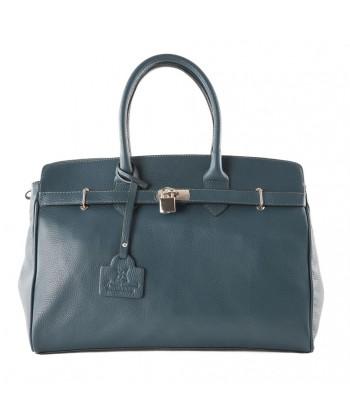 Man saco, Lilly Verde, de coiro, feitos en Italia