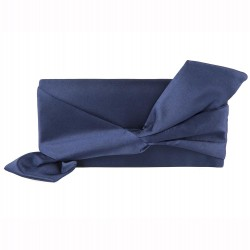 Bag clutch, Ophelia Blue, satin