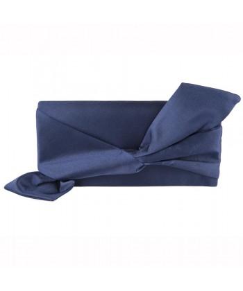 Bag clutch, Ophelia Blue, satin