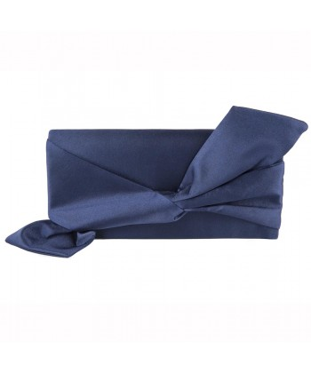 Borsa clutch, Ofelia Blu, in raso