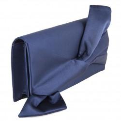 Bolsa de embrague, Ophelia Azul, satén