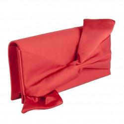 Borsa clutch, Ofelia Rossa, in raso