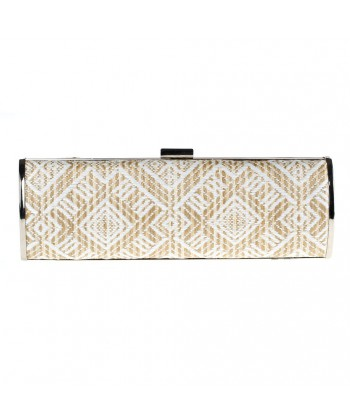Bag clutch, Barbara White, raffia