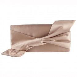 Bag clutch, Ophelia Beige, satin