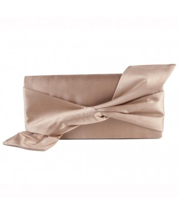 Bag clutch, Ophelia Beige, satin