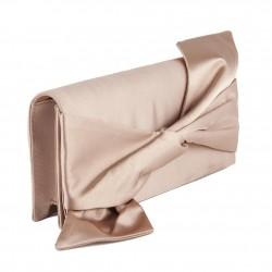 Borsa clutch, Ofelia Beige, in raso