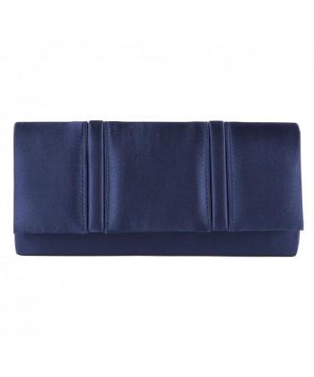 Borsa clutch, Rosalinda Blu, in raso