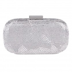 Bag clutch, Nives Silver, fabric
