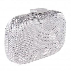 Bolsa de embreagem, Nives de Prata, tecido