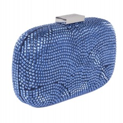 Borsa clutch, Nives Blu, in tessuto