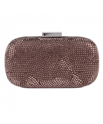Bag clutch, Nives Brown, fabric