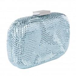 Bolsa de embrague, Nives Azul, tela