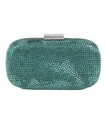 Bag clutch, Nives Dark Green, fabric