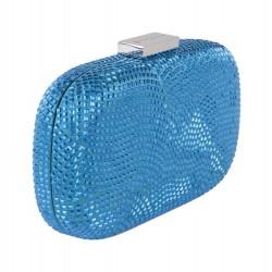 Borsa clutch, Nives Azzurro Scuro, in tessuto