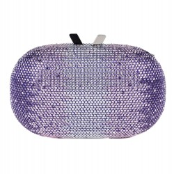 Bag clutch, Ilda Purple, fabric with stones