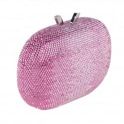 Borsa clutch, Ilda Rosa, in tessuto con pietre