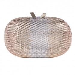 Borsa clutch, Ilda Oro, in tessuto con pietre